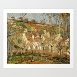 "Camille Pissarro ""The Red Roofs, a Corner of a Village, Winter Effect"" Art Print"