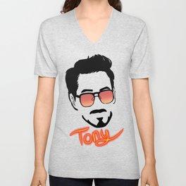 Tony Stark (Graphic) Unisex V-Neck