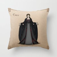 valar morghulis Throw Pillows featuring Este by wolfanita