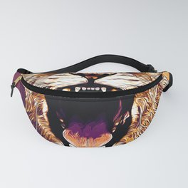 african lioness safari cat v2 vector art late sunset Fanny Pack