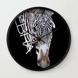 Zebra head Wall Clock