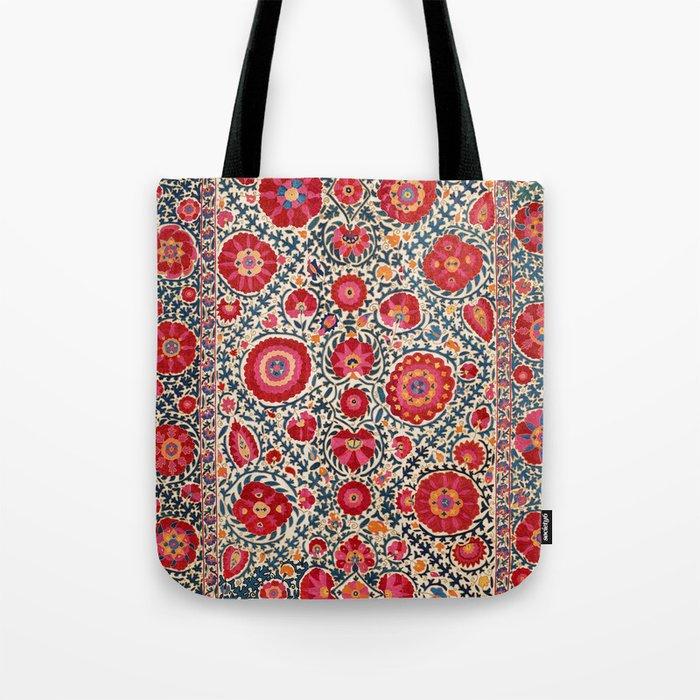 Kermina Suzani Uzbekistan Embroidery Print Tote Bag