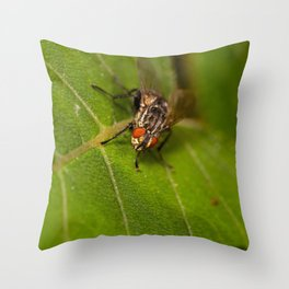 Macro dicky Throw Pillow