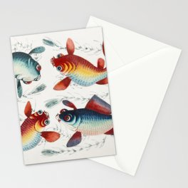 Chinese painting featuring two gold and two silver fish (ca1800-1899) from the Miriam and Ira D Wall Stationery Cards