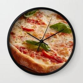 Italy Photography - Tasteful Italian Pizza Wall Clock