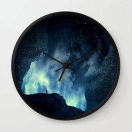 Spaces XVIII - At Night Wall Clock