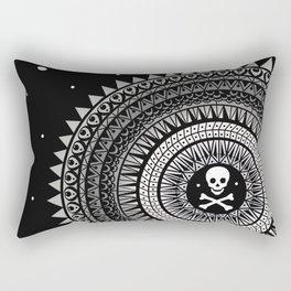Space Skull & Bones Rectangular Pillow
