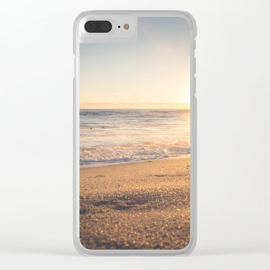 Sunspot in the Sand Clear iPhone Case