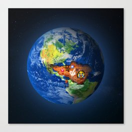 Deface Of The Earth Canvas Print
