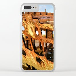The Wreck of the Peter Iredale Clear iPhone Case