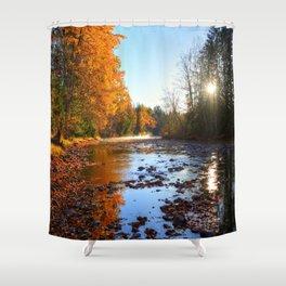 Salmon Sanctuary - Adams River BC, Canada Shower Curtain