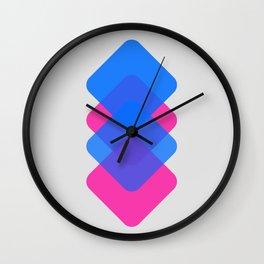 blue magenta Wall Clock