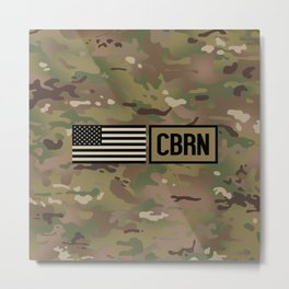 CBRN (Camo) Metal Print