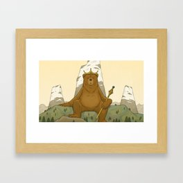 King Grizzly Framed Art Print