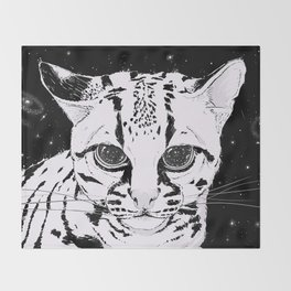 Leopardus Pardalis Throw Blanket