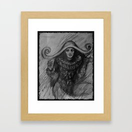 Sad Clown Framed Art Print