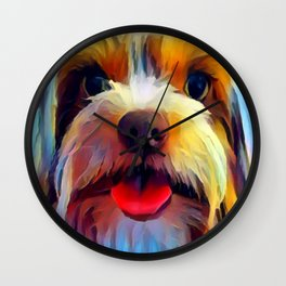 Biewer Terrier Wall Clock
