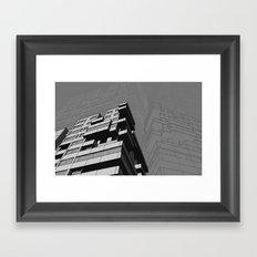 Southbank Flats Framed Art Print