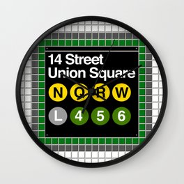 subway union square sign Wall Clock