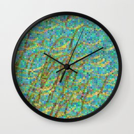 Algae mosaic Wall Clock