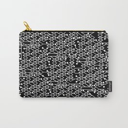 Microchip Pattern (White) Carry-All Pouch