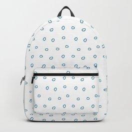 Blue minimal hand drawn ring pattern Backpack