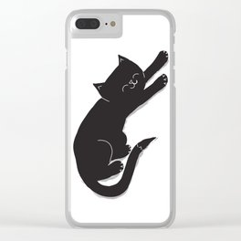 Happy Kitty Clear iPhone Case