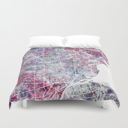 Detroit map Duvet Cover