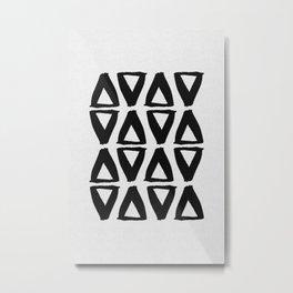 Black and White Abstract II Metal Print