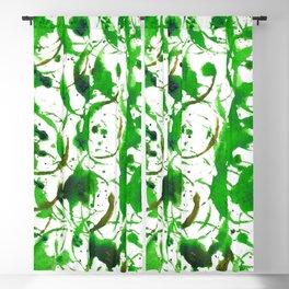 Green Drip Bubbles Blackout Curtain
