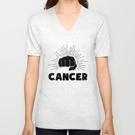 Cancer, just punch it Unisex V-Neck