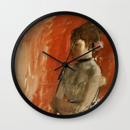 "Edgar Degas ""Ballet dancer with arms crossed"" Wall Clock"