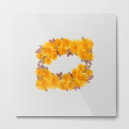 Daisy Wreath Metal Print