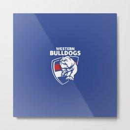 western bulldogs afl Metal Print