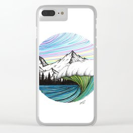 Colors in the sky Clear iPhone Case