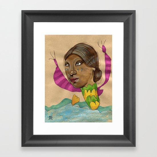 Crying Sea Monster Framed Art Print