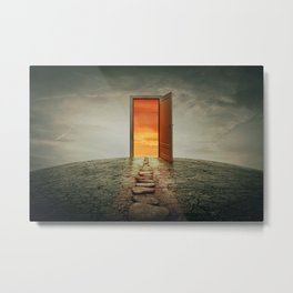 teleportation door Metal Print