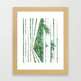 Thru the Blinds Framed Art Print