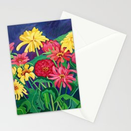 Zinnias Stationery Cards