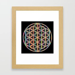 Flower of Life Colored | Kids Room | Delight Framed Art Print
