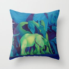 Blue Dreams Throw Pillow