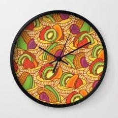 Fruit Flans Wall Clock