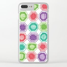 Hexagons Clear iPhone Case