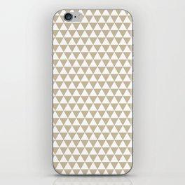 Triangles Warm Grey  Beige iPhone Skin