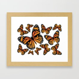 Monarch Butterflies | Monarch Butterfly | Vintage Butterflies | Butterfly Patterns | Framed Art Print