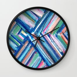 Modern Art Chevron Wall Clock