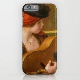 """Auguste Renoir """"Jeune Espagnole jouant de la guitare""""(Young Spanish Woman Playing a Guitar) iPhone Case"""