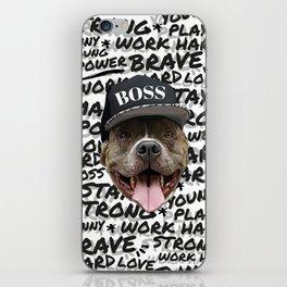 Pitbull Boss iPhone Skin