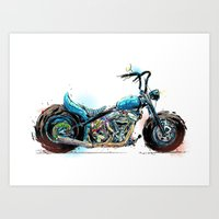 Happy Tail Harley Art Print