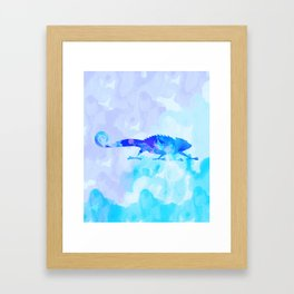 Abstract Chameleon Reptile Framed Art Print
